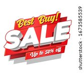 best buy  sale offer up to 50 ... | Shutterstock .eps vector #1673585539