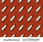 seamless pattern red creme... | Shutterstock . vector #1673590699