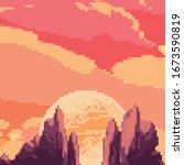 pixel art background. location...