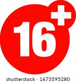a sixteen years over icon  | Shutterstock .eps vector #1673595280