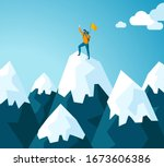 trendy flat illustration.... | Shutterstock .eps vector #1673606386