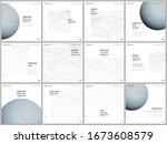 brochure layout of square... | Shutterstock .eps vector #1673608579