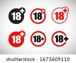 a eighteen years over icon set | Shutterstock .eps vector #1673609110