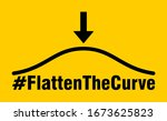 flatten the curve hashtag icon. ... | Shutterstock .eps vector #1673625823