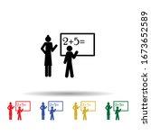 math lesson multi color icon....