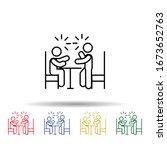 schooling confused parent multi ...   Shutterstock .eps vector #1673652763