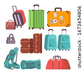 set of various luggage....   Shutterstock .eps vector #1673654806