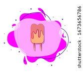 ice cream colored liquid bacdge ...
