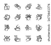 Hygiene Related Thin Icon Set ...