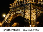Lights On The Eiffel Tower At...
