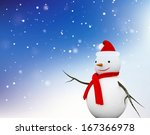snowman. | Shutterstock . vector #167366978