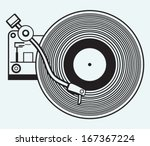 record player vinyl record... | Shutterstock .eps vector #167367224