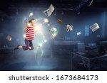 world of books concept . mixed... | Shutterstock . vector #1673684173