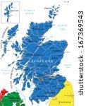 scotland map | Shutterstock .eps vector #167369543
