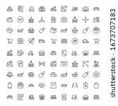 commerce line icon set.... | Shutterstock .eps vector #1673707183
