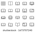 Book Icon Set. Collection Of...