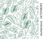 tropical trendy seamless... | Shutterstock .eps vector #1673708293