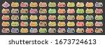 vector set of ice cream labels  ... | Shutterstock .eps vector #1673724613