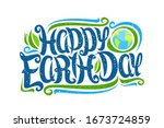 Vector Greeting Card For Earth...