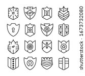 shield  badge and insignia... | Shutterstock .eps vector #1673732080