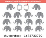 how many elephants go to the... | Shutterstock .eps vector #1673733730