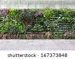 vertical garden floral | Shutterstock . vector #167373848