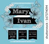 wedding invitation  thank you...   Shutterstock .eps vector #167374094