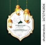 ramadan kareem arabic... | Shutterstock .eps vector #1673741806