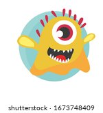 Cute One Eyed Yellow Monster...