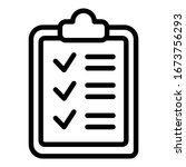 checklist board icon. outline...