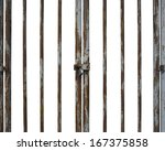 old rusty locked door with... | Shutterstock . vector #167375858