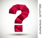 Red Question Mark Geometric...