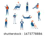 reading people  education set... | Shutterstock .eps vector #1673778886