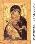Small photo of Russian, Orthodox, Eastern Church,Virgin, Virgin Mary, Vladimir Icon of the Mother of God