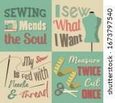 Sewing Quote And Saying Set...
