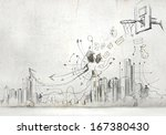 background image with sketches... | Shutterstock . vector #167380430