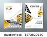 annual report brochure flyer... | Shutterstock .eps vector #1673820130