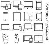 smart devices icons vector set. ... | Shutterstock .eps vector #1673821699