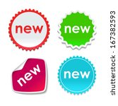 set of colorful paper design... | Shutterstock .eps vector #167382593