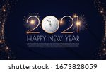 happy new 2021 year  elegant... | Shutterstock .eps vector #1673828059