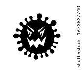 black corona virus silhouetted... | Shutterstock .eps vector #1673837740