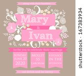 wedding invitation card | Shutterstock .eps vector #167383934