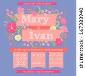 wedding invitation card | Shutterstock .eps vector #167383940
