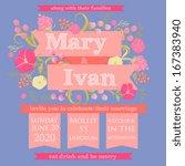 wedding invitation card | Shutterstock .eps vector #167383940