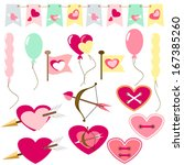 flat love icons | Shutterstock .eps vector #167385260
