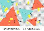 modern pattern. 90s design.... | Shutterstock .eps vector #1673853133