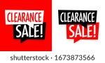 clearance sale on speech bubble   Shutterstock .eps vector #1673873566