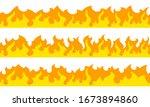 cartoon fire flame frame... | Shutterstock .eps vector #1673894860