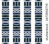 watercolor tribal geometric... | Shutterstock . vector #1673903770