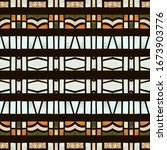 bohemian tribal watercolor... | Shutterstock . vector #1673903776